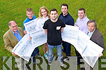 Pictured at a presentation of cheques raised by the IT Tralee Students' Union on Thursday, from left: Sean Prendergast (Kerry Cancer Support Group), Michael O'Sullivan (St. John of Gods Tralee), Kia Townsend (Jigsaw Kerry), Michael Thompson (IT Tralee SU President), Liam McDonagh (CARA Centre Camp Abilities), Tadhg Maher (Project Uganda) and John Daly (Baraka College, Kenya).