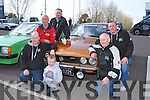Checking out the 1972 Opel Manta at the Opel open day at Ahern's Garage Castleisland on Saturday was Eddie Casey left with clockwise from left Michael Anthony Ahern, Paul Horan, Ted O'Connell, Aaron Murphy, Denis and Darren Murphy..