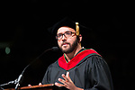 Wesley Lowery delivered the keynote address at undergraduate commencement. Photo by Ben Siegel