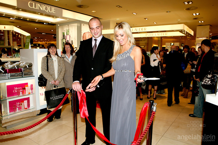 Debenhams Cosmetic Launch, Henry St Dublin.Rosanna Davidson officially opening Debenhams of Henry, cosmetics hall.