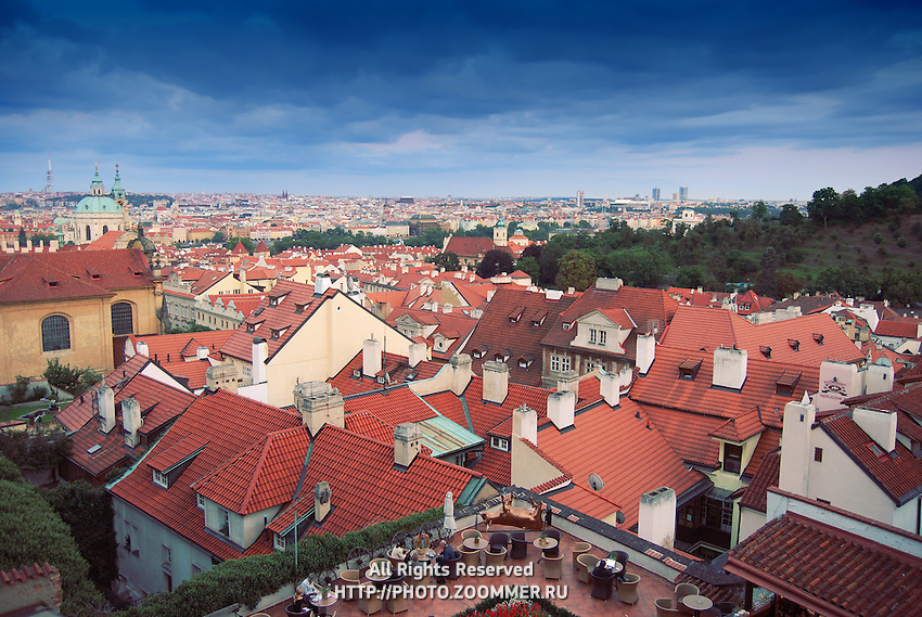 Red Tile Roofs in Prague
