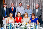 Enjoying the Kerins O'Rahilly's social held at Fels Point Hotel, Tralee on Saturday night last were front l-r: Kelly Ann Roantree, Vivienne O'Shea, Claire Molloy and Margaret O'Shea. Back l-r: John O'Connor, Declan Quill, Ger O'Brien Oliver Molloy and Paudie O'Shea,