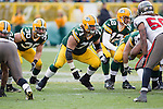 Green Bay Packers offensive lineman Josh Sitton (71) during a Week 11 NFL football game against the Tampa Bay Buccaneers on November 20, 2011 in Green Bay, Wisconsin. The Packers won 35-26. (AP Photo/David Stluka)