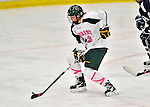 29 January 2012: University of Vermont Catamount forward Klara Myren, a Freshman from Leksand, Sweden, in action against the University of New Hampshire Wildcats at Gutterson Fieldhouse in Burlington, Vermont. The Lady Cats, dressed in their Breast Cancer Awareness jerseys, edged out the Wildcats 2-1 to split their Hockey East twin-game weekend series. Mandatory Credit: Ed Wolfstein Photo