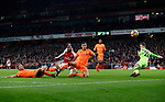 Arsenal's Alexandre Lacazette puts the ball wide during the premier league match at the Emirates Stadium, London. Picture date 22nd December 2017. Picture credit should read: David Klein/Sportimage