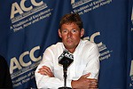 10 November 2010: Wake Forest head coach Jay Vidovich. The University of Virginia Cavaliers defeated the Wake Forest University Demon Deacons 1-0 at Koka Booth Stadium at WakeMed Soccer Park in Cary, North Carolina in an ACC Men's Soccer Tournament Quarterfinal game.