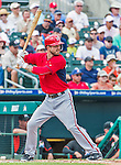 10 March 2015: Washington Nationals infielder Jeff Kobernus stands at bat during Spring Training action against the Miami Marlins at Roger Dean Stadium in Jupiter, Florida. The Marlins edged out the Nationals 2-1 on a walk-off solo home run in the 9th inning of Grapefruit League play. Mandatory Credit: Ed Wolfstein Photo *** RAW (NEF) Image File Available ***