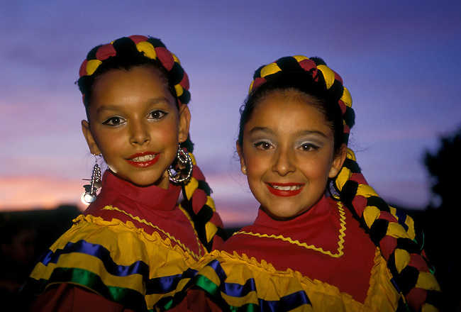 Costumed dancers at National Hispanic Cultural Center, Albuquerque, New Mexico, United States, North America
