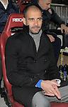 MADRID, Spain (14/02/10).-Liga BBVA de futbol. Partido Atletico de Madrid-FC Barcelona..Pep Guardiola.©Raul Perez ..