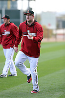 Archie Bradley of the Arizona Diamondbacks participates in the first day of spring training workouts at Salt River Fields on February 7, 2014 in Scottsdale, Arizona (Bill Mitchell)