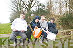 enjoying their orienteering trip at Ballyseedy woods on Thursday were l-r: Danny O' Connor, Oisin Shanahan, Chris Irwin and CJ Doyle all CBS The Green students..   Copyright Kerry's Eye 2008