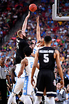 GLENDALE, AZ - APRIL 03: Przemek Karnowski #24 of the Gonzaga Bulldogs shoots the ball during the 2017 NCAA Men's Final Four National Championship game against the North Carolina Tar Heels at University of Phoenix Stadium on April 3, 2017 in Glendale, Arizona.  (Photo by Brett Wilhelm/NCAA Photos via Getty Images)