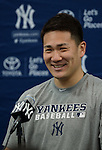 Masahiro Tanaka (Yankees),<br /> FEBRUARY 15, 2014 - MLB :<br /> Masahiro Tanaka of the New York Yankees attends a press conference after a practice during the New York Yankees spring training camp in Tampa, Florida, United States. (Photo by AFLO)