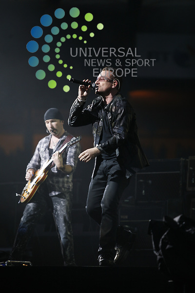 U2 rock Hampden Park Stadium in Glasgow on 18th August 2009 as part of their 360 Tour..Picture: Peter Kaminski/Universal News and Sport (Scotland)