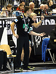 12.01.2019, Mercedes Benz Arena, Berlin, GER, Germany vs. Brazil, im Bild Cheftrainer (Head Coach) Christian Prokop (GER), Patrick Wiencek (GER #7)<br /> <br />      <br /> Foto &copy; nordphoto / Engler
