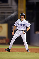 Tampa Tarpons right fielder Ben Ruta (6) leads off first base during the second game of a doubleheader against the Lakeland Flying Tigers on May 31, 2018 at George M. Steinbrenner Field in Tampa, Florida.  Lakeland defeated Tampa 3-2.  (Mike Janes/Four Seam Images)