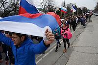 pro-russian demonstrations in Simferopol, Crimea, Ukraine