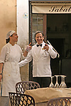 Chef and waiter,Sabatini Restaurant,Rome,Italy, Trastevere.