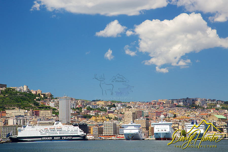 Cruise ships, Naples Harbor, Naples Italy