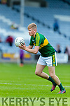 Donchadh O'Sullivan Kerry in action against  Louth in the All Ireland Minor Football Quarter Finals at O'Moore Park, Portlaoise on Saturday.