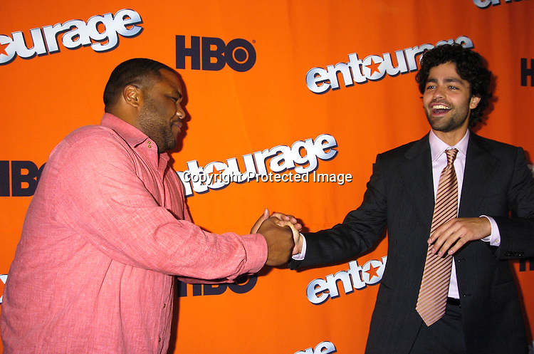 """Anthony Anderson and Adrian Grenier  ..at The New York Season 2 Premier of HBO Television show """"Entourage"""" on June 2, 2005  at Lincoln Center. ..Photo by Robin Platzer, Twin Images"""