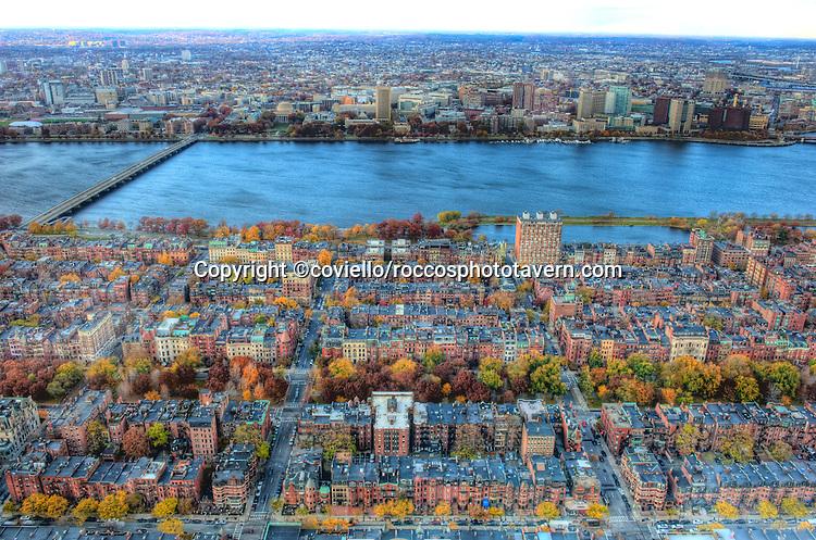 Autumn comes to Back Bay Boston.