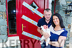 Denise and Brendan Cronin Gneeveguilla with little Caden who was delivered in their car on the way to CUH last weekend