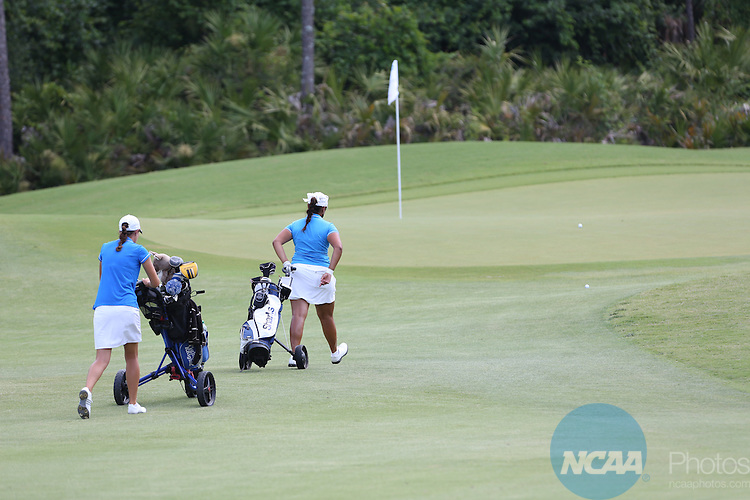 18 MAY 2013:  Competition takes place during the Division II Women's Golf Championship held at the LPGA International Golf Course in Daytona Beach, FL.  Lynn University shot a +17 to win the national title by 3 strokes.  Matt Marriott/NCAA Photos
