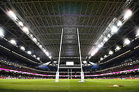 A general view of the Millennium Stadium with the roof closed. Rugby World Cup Pool A match between Wales and Fiji on October 1, 2015 at the Millennium Stadium in Cardiff, Wales. Photo by: Patrick Khachfe / Onside Images