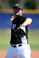 March 1, 2010:  Pitcher Kyle Drabek (4) of the Toronto Blue Jays during practice at Englebert Complex in Dunedin, FL.  Photo By Mike Janes/Four Seam Images