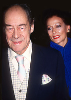 RexHarrison and wife MerciaTinker 1982<br /> Photo By Adam Scull/PHOTOlink.net/MediaPunch