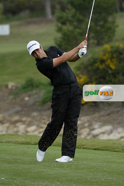 Lorenzo Gagli (ITA) during Round 1 of the NH Collection Open at the La Reserva de Sotogrande Club de Golf in Cadiz Spain on Thursday 3rd April 2014<br /> Picture:  Thos Caffrey / www.golffile.ie