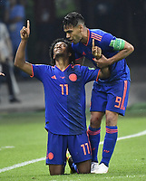 (180624) -- KAZAN, June 24, 2018 -- Juan Cuadrado (L) of Colombia celebrates scoring with Radamel Falcao during the 2018 FIFA World Cup WM Weltmeisterschaft Fussball Group H match between Poland and Colombia in Kazan, Russia, June 24, 2018. ) (SP)RUSSIA-KAZAN-2018 WORLD CUP-GROUP H-POLAND VS COLOMBIA HexCanling PUBLICATIONxNOTxINxCHN  <br /> Kazan 24-06-2018 Football FIFA World Cup Russia  2018 <br /> Poland - Colombia / Polonia - Colombia <br /> Foto Imago/Insidefoto