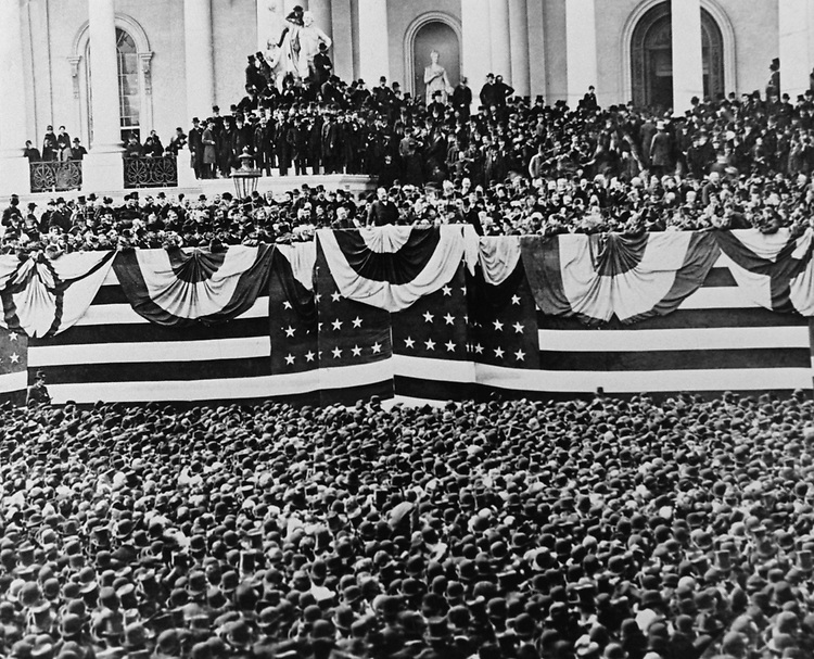 President Grover Cleveland Inauguration on Capitol Hill, in 1885.   Photo From the Library of Congress, taken in January 1997. (Photo by CQ Roll Call via Getty Images)