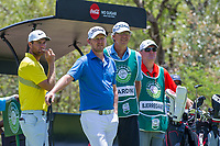 Lucas Bjerregaard (DEN) and Justin Harding (RSA) during the 3rd round at the Nedbank Golf Challenge hosted by Gary Player,  Gary Player country Club, Sun City, Rustenburg, South Africa. 16/11/2019 <br /> Picture: Golffile | Tyrone Winfield<br /> <br /> <br /> All photo usage must carry mandatory copyright credit (© Golffile | Tyrone Winfield)