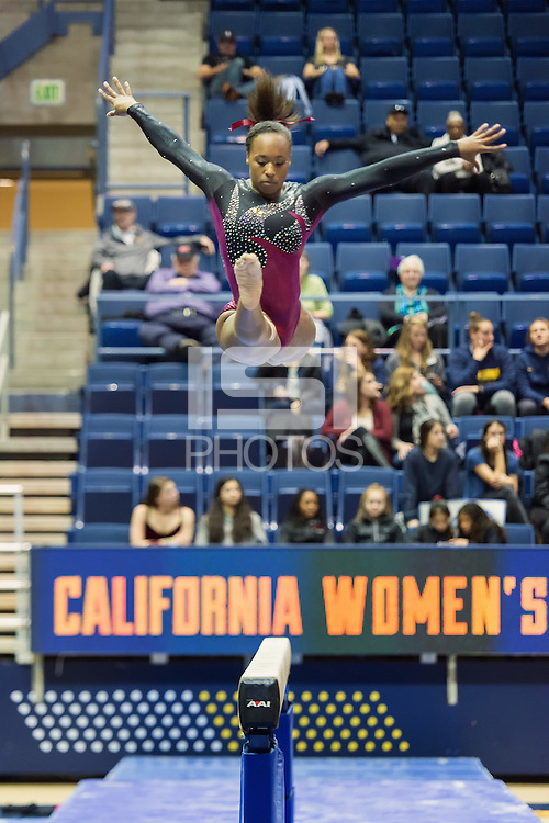 Berkeley, Ca - January 9, 2017: The 2017 Nor Cal Classic Women's Gymnastics at Haas Pavilion. Stanford finished in fourth place with 193.250 points