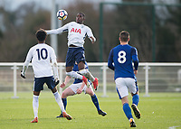 Shilow Tracey of Tottenham Hotspur in action during the U23 - Premier League 2 match between Tottenham Hotspur U23 and Everton at Tottenham Training Ground, Hotspur Way, England on 15 January 2018. Photo by Vince  Mignott / PRiME Media Images.