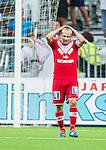 Stockholm 2014-07-28 Fotboll Superettan Hammarby IF - Assyriska FF :  <br /> Assyriskas Christopher Brandeborn ser nedst&auml;md ut efter en missad m&aring;lchans<br /> (Foto: Kenta J&ouml;nsson) Nyckelord:  Superettan Tele2 Arena Hammarby HIF Bajen Assyriska AFF depp besviken besvikelse sorg ledsen deppig nedst&auml;md uppgiven sad disappointment disappointed dejected
