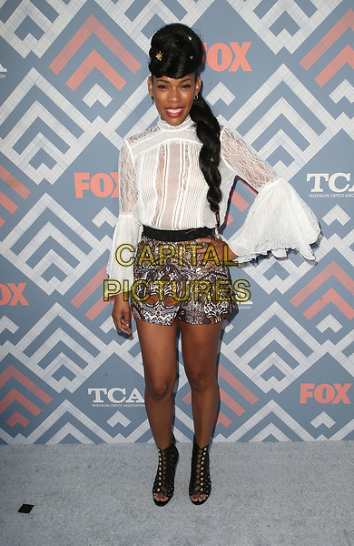 08 August 2017 - West Hollywood, California - Angela Lewis. 2017 FOX Summer TCA Party held at SoHo House. <br /> CAP/ADM/FS<br /> &copy;FS/ADM/Capital Pictures