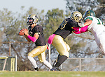 Palos Verdes, CA 10/07/16 - Devin Williams (Peninsula #44) and Aidan Kuykendall (Peninsula #7) in action during the CIF Bay League game between Mira Costa and Peninsula.