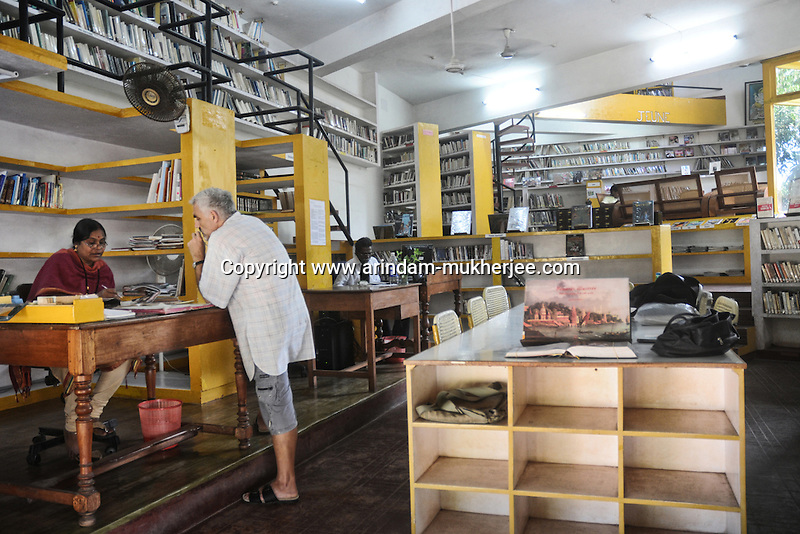 Library of Allias Francaise in Pondicherry. Arindam Mukherjee