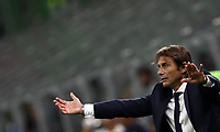 Calcio, Serie A: Inter Milano - Lecce, Giuseppe Meazza stadium, September 26 agosto 2019.<br /> Inter's coach Antonio Conte speaks to his players during the Italian Serie A football match between Inter and Lecce at Giuseppe Meazza (San Siro) stadium, September August 26,, 2019.<br /> UPDATE IMAGES PRESS/Isabella Bonotto