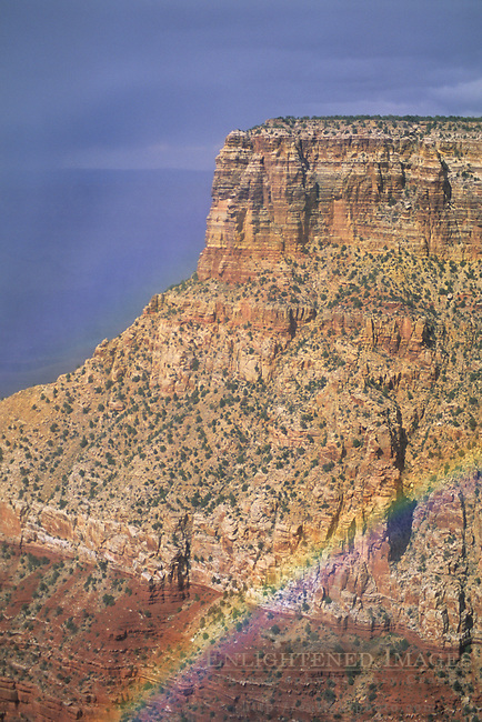 Rainbow from Moran Point, South Rim Grand Canyon National Park, Arizona