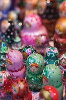 Europe/Voïvodie de Petite-Pologne/Cracovie: Marché de Noël sur la Place du Marché: Rynek Poupées russes