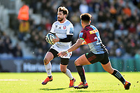 Danny Cipriani of Gloucester Rugby in possession. Gallagher Premiership match, between Harlequins and Gloucester Rugby on March 10, 2019 at the Twickenham Stoop in London, England. Photo by: Patrick Khachfe / JMP