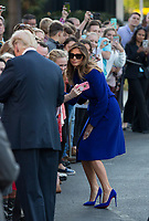 First lady Melania Trump and United States President Donald J. Trump greet well wishers before departing the White House in Washington, DC, November 3, 2017 for a multi-day trip to Hawaii and then on to Asia. <br /> Credit: Chris Kleponis / CNP /MediaPunch
