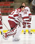 Kyle Richter (Harvard - 33) - The Boston University Terriers defeated the Harvard University Crimson 6-5 in overtime on Tuesday, November 24, 2009, at Bright Hockey Center in Cambridge, Massachusetts.
