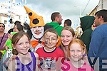 Clowning around with JJ the Clown at the parade at the Gathering day of Puck Fair in Killorglin on Tuesday evening were Dean, Chloe, Jemma and Michelle Maher.