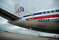 An American Airlines plane prepares for takeoff at Dallas-Fort Worth International Airport (DFW) in Dallas, Texas, Friday, May 14, 2010. ..PHOTO: MATT NAGER