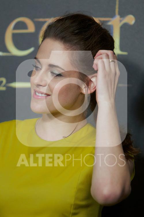 Kristen Stewart during the premiere of The Twilight Saga: Breaking Dawn. November 15, 2012. (ALTERPHOTOS/Alvaro Hernández)